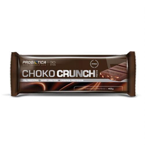 Choko Crunch - Chocolate Proteico 1 unidades 40g - Probiótica no Atacado