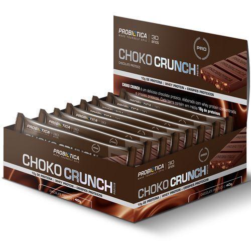 Choko Crunch - Chocolate Proteico  Cx 12 unidades de 40g - Probiótica