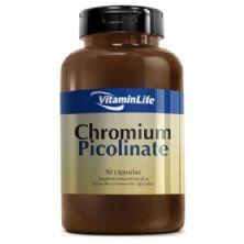 Chromium Picolinate - Cromo 90 cápsulas - VitaminLife