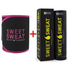 Cinta Abdominal Black & Pink + Sweet Sweat - 182g - Sports Research