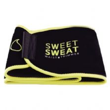 Cinta Abdominal Sweet Sweat Black & Amarelo