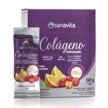 Colágeno Verisol Hidrolisado - 30 Sticke de 4g Frutas Amarelas - Sanavita