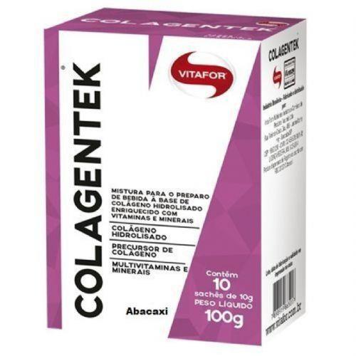 Colagentek - 10 Sachês 10g Abacaxi - Vitafor no Atacado
