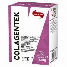 Colagentek - 10 Sachês 10g Laranja Com Acerola - Vitafor*** Data Venc. 30/09/2020