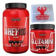 Combo 100% Whey Chocolate + Glutamina + Porta Caps - Integralmédica