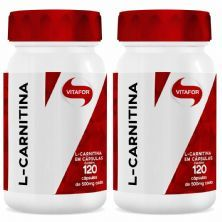 Combo 2 - L-Carnitina - 120 Cápsulas - Vitafor