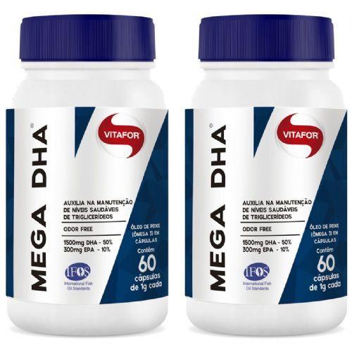 Combo 2 - Mega Dha - 60 Cápsulas - Vitafor no Atacado