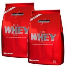 Combo 2 - Nutri Whey Protein - Refil Morango 907g - Integralmédica
