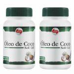 Combo 2 - Óleo de Coco Extravirgem 1mg - 60 Cápsulas - Vitafor