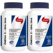 Combo 2 - Ômega 3 - 120 Cápsulas 1g - Vitafor