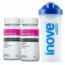 Combo - 2 TestoFemme - 60 Cápsulas + Coqueteleira - Inove Nutrition