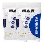 Combo 2x Top Whey 3W - 1800g Refil Baunilha - Max Titanium no Atacado