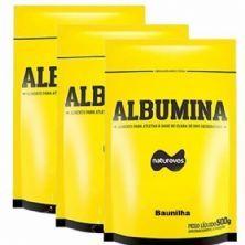 Combo - 3 Albumina Refil - 500g Baunilha - Naturovos