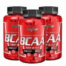 Combo 3 - Amino BCAA TOP 4:1:1 - 120 cápsulas - Integralmédica