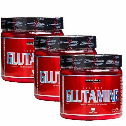 Combo 3 Glutamina Powder Isolate - Natural 300g - Integralmédica