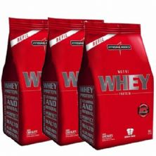 Combo 3 - Nutri Whey Protein - Chocolate 1800g Refil - Integralmédica