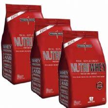 Combo 3 - Nutri Whey Protein - Refil Baunilha 907g - Integralmédica