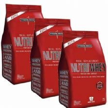 Combo 3 - Nutri Whey Protein - Refil Chocolate, Baunilha, Morango 907g - Integralmédica