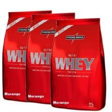 Combo 3 - Nutri Whey Protein - Refil Morango 907g - Integralmédica