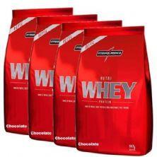 Combo 4 - Nutri Whey Protein - Refil Chocolate 907g - Integralmédica