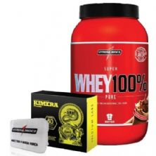 Combo Kimera + Super Whey Chocolate + Porta Cáps - Integralmédica