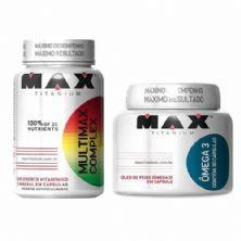 Combo - Multimax Complex 90 Cápsulas + Ômega 3 - 90 Cápsulas - Max Titanium