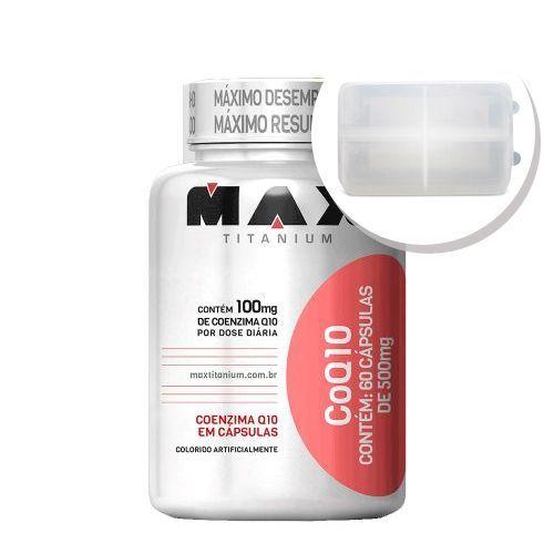 CoQ10 - 60 Cápsulas + Porta Cápsulas transparente - Max Titanium