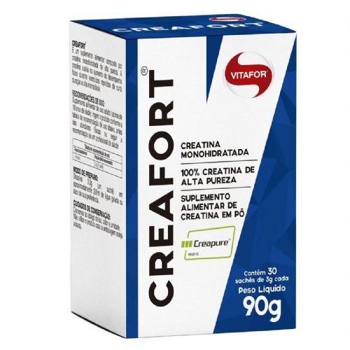 Creafort Creapure Creatina - 30 Sachês 3g - Vitafor no Atacado