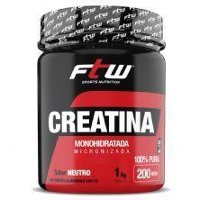 Creatina Monohidratada Micronizada - 1000g Neutro - FTW