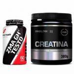 Combo - Creatina Monohidratada Pura 300g + ZMA GH Testo 60 Cápsulas - BodyAction