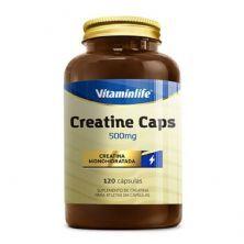 Creatine Caps 500mg - 120 Cápsulas - Vitaminlife