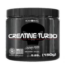 Creatine Turbo - 150g Sem Sabor - Black Skull