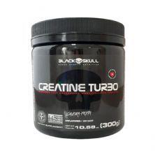 Creatine Turbo Monohidratada - 300g Sem Sabor  - Black Skull