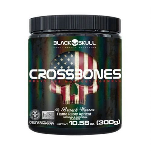 Crossbones - 300g Flame Rusty Apricot - Black Skull no Atacado