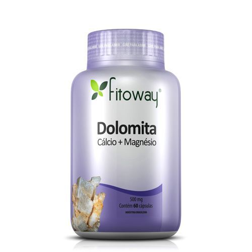 Dolomita - 60 Cápsulas - Fitoway no Atacado