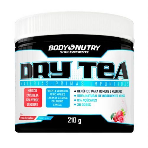 Dry Tea - 210g Frutas vermelhas - Body Nutry no Atacado
