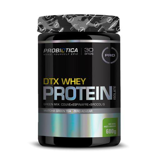 DTX Whey Protein Isolate - 600g Green Mix Zero Açucar - Probiótica