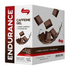 Endurance Caffeine Gel - 12 Sachês 30g Chocolate Belga - Vitafor