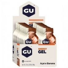 Energy Gel - 24 Sachês 32g Açaí e Banana - GU*** Data Venc. 30/12/2020