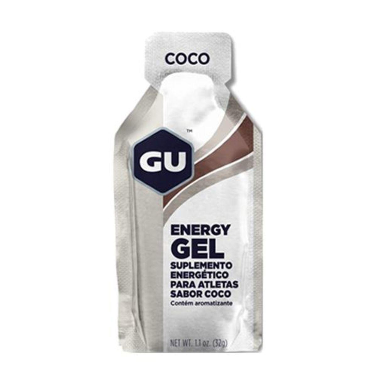 Energy Gel - Sabor Coco 1 Sachês 32g - GU*** Data Venc. 30/01/2020