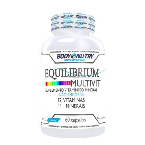 Equilibrium Multivit - 60 Cápsulas - Body Nutry*** Data Venc. 20/02/2018