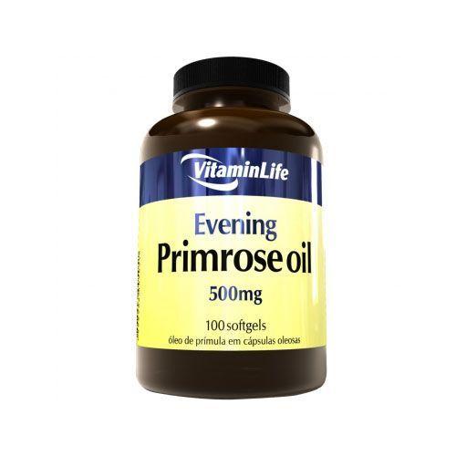 Evening Primrose Oil 500mg - Óleo de Prímula 100 cápsulas - VitaminLife