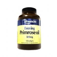 Evening Primrose Oil 500mg - Óleo de Prímula 100 cápsulas - VitaminLife