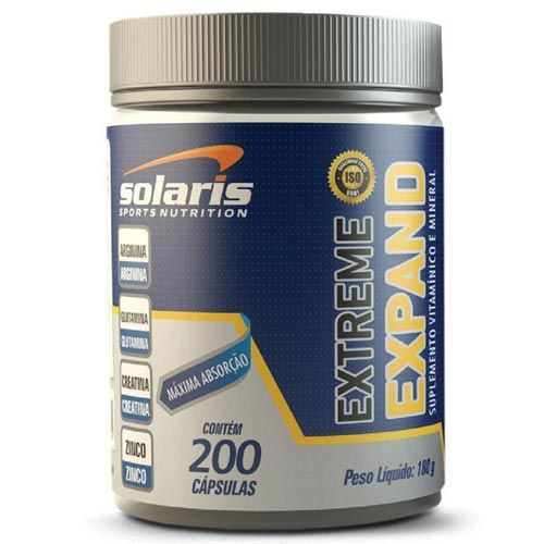 Extreme Expand - 200 Cápsulas - Solaris Nutrition
