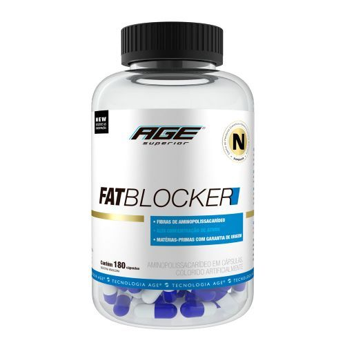 Fat Blocker Bloqueador de Gordura AGE - 180 Cápsulas - Nutrilatina