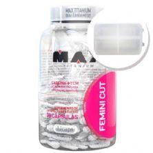 Femini Cut - 30 Cápsulas + Porta Cápsulas transparente - Max Titanium