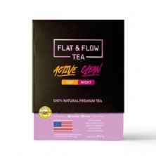 Flat & Flow Tea Active Day/Clean Night 28 Dias - 56 Doses - Naturelab