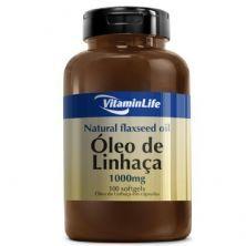 Flaxseed Oil Óleo de Linhaça 1000mg - 100 Cápsulas - Vitaminlife