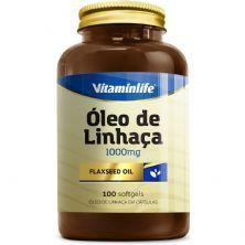 Óleo de Linhaça 1000mg - 100 Cápsulas - Vitaminlife