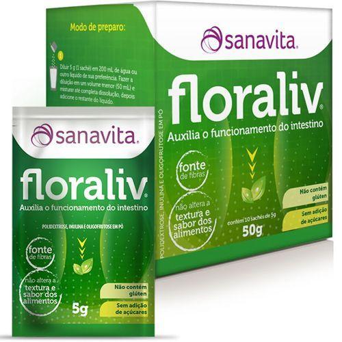 Floraliv - 10 Sachês de 5g - Sanavita
